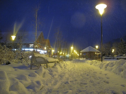 Serre Chevalier by night